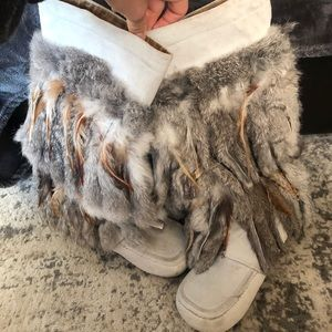 Shoes - Genuine Fur Boots